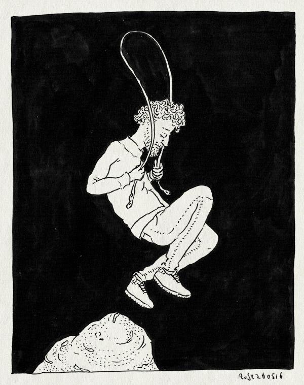 tekening 3289, alwine, bergje, bso, midas, springtouw, springtouwen, zelfgemaakt