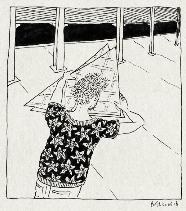tekening 3314, afgefackt, driehoeken, hall of heroes, loods, ndsm, noord, spiegels, voorbereiding