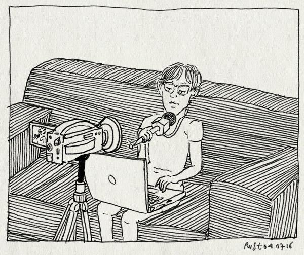tekening 3328, bank, dit is een nieuwe video van mij, filmen, gamen, midas, screencast, statief, vlog, youtube, youtuber