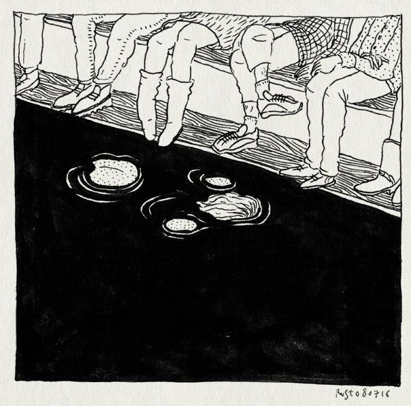 tekening 3332, bootvluchteling, drijven, lampedusa, mirjam, over t ij festival, publiek, verdrinken, verdronken, water