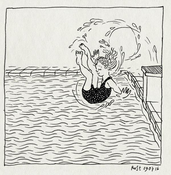 tekening 3333, afsprong, afzwemmen, alwine, c diploma, de mirandabad, salto, zwembad