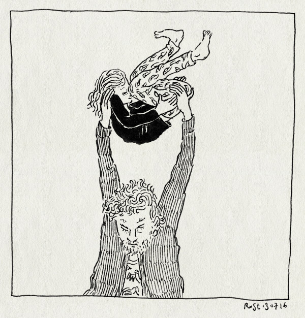 tekening 3337, alwine, bom, bommetje, gooien, stoeien, stoelen op het bed, vervelend