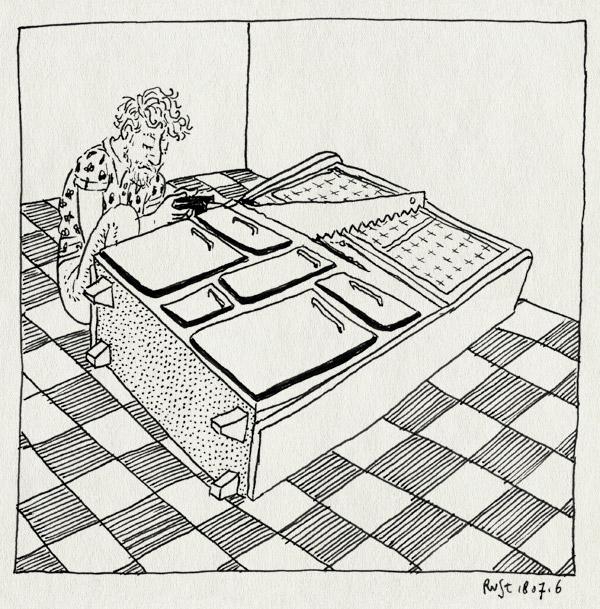 tekening 3342, delen, doorzagen, kast, keuken, marktplaats, opdelen, zaag, zagen