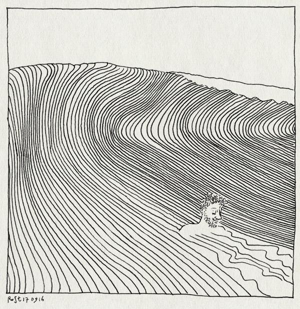 tekening 3403, bakkum, castricum, golf, golven, onverwacht, strand, stroming, waves, zee, zwemmen
